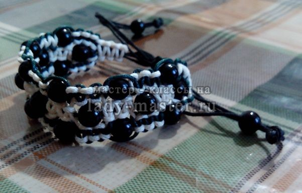 Трехрядный браслет шамбала своими руками, фото