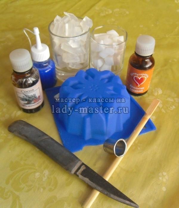 Мастер класс по изготовлению мыла ручной работы «Снежинка»