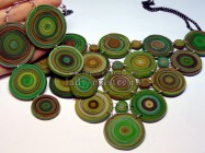 Изысканное ожерелье и серьги своими руками из полимерной глины