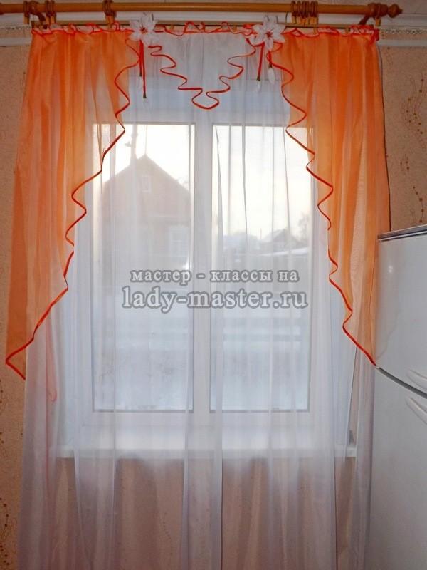 Как пошить красивую штору на кухню
