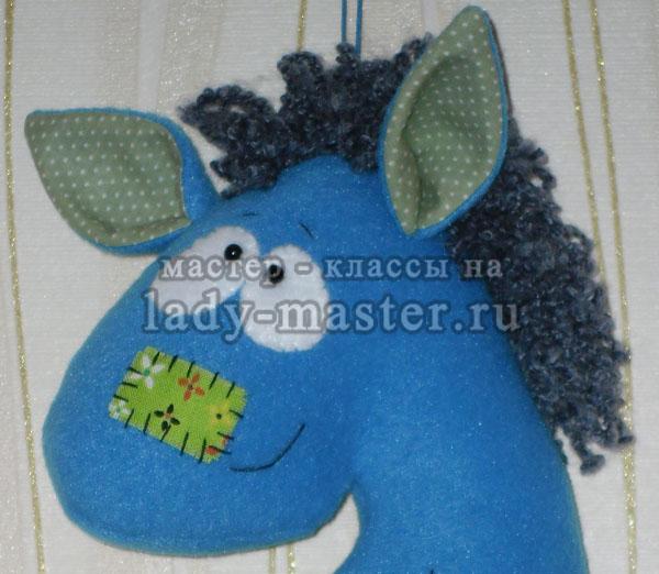 игрушка - лошадка из флиса своими руками, фото