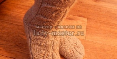 Носки с рисунком на 5-ти чулочных иголках