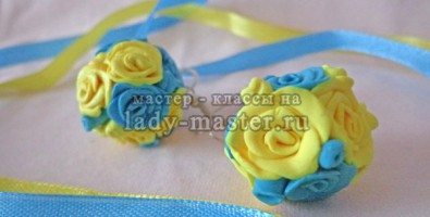 Серьги с розами из полимерной глины своими руками для начинающих