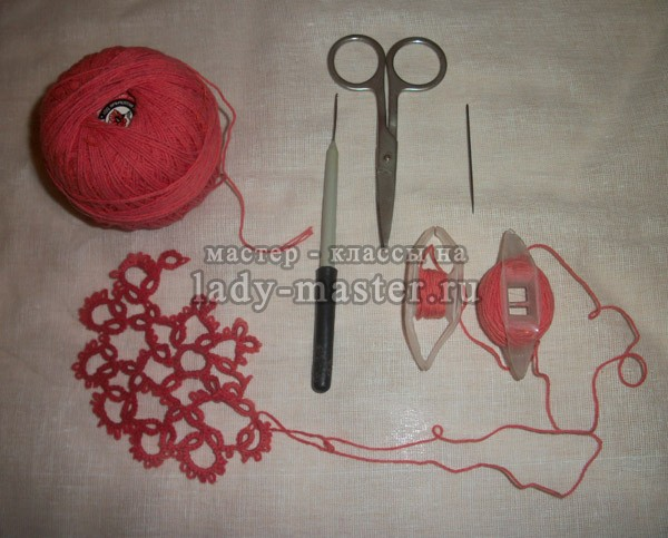 материалы для плетения фриволите, фото