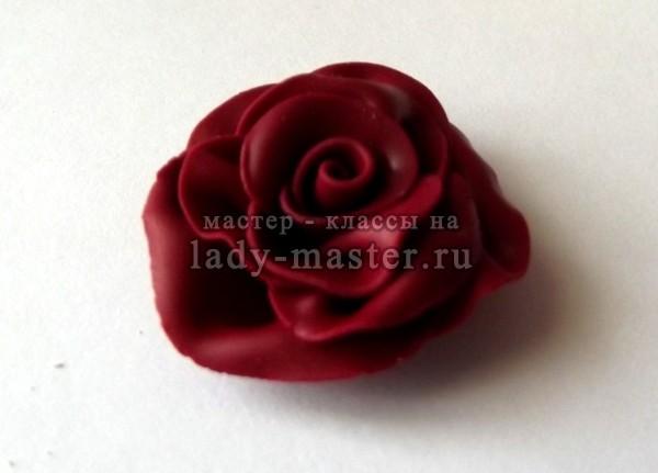 """Кулон """"Роза"""" из полимерной глины своими руками, фото"""