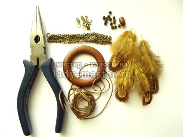 материалы для изготовления амулета ловец снов
