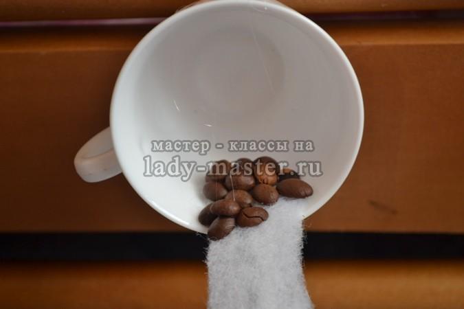 обклеиваем кофейными зернами, фото