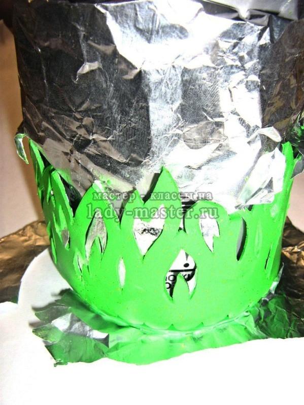 Ажурный подсвечник из полимерной глины, фото