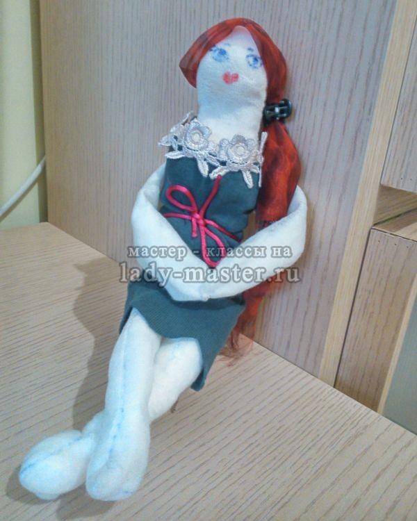 Простая куколка из лоскутков, мастер - класс, фото