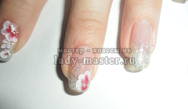 роспись ногтей акриловыми красками китайская роспись