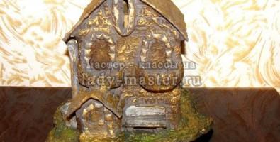 Копилка — домик своими руками из папье маше