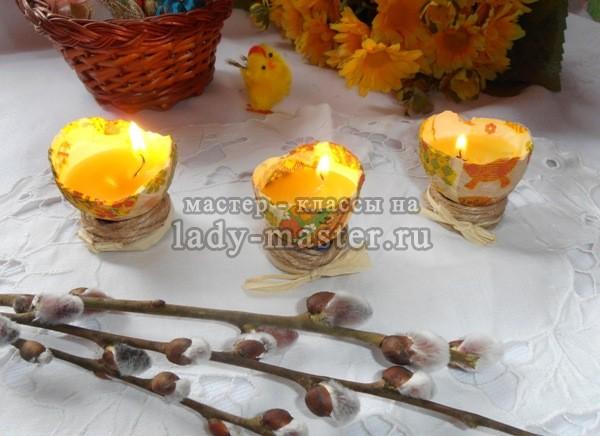оригинальные пасхальные свечи, фото