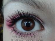 Яркий вечерний розовый макияж для карих глаз