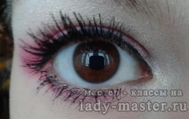 розовый макияж для карих глаз, фото