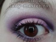 Макияж для карих глаз с фиолетовыми тенями