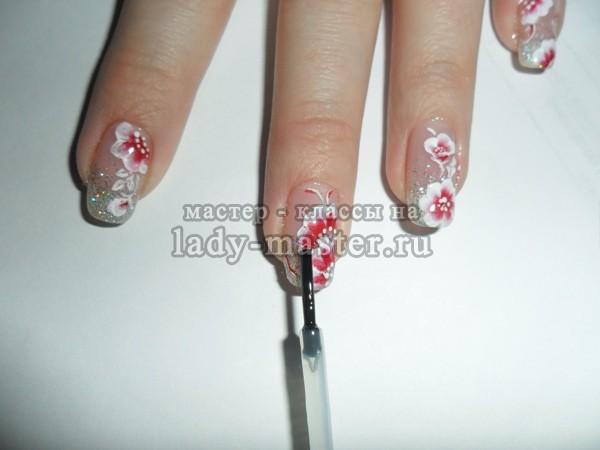 технология китайской росписи на ногтях