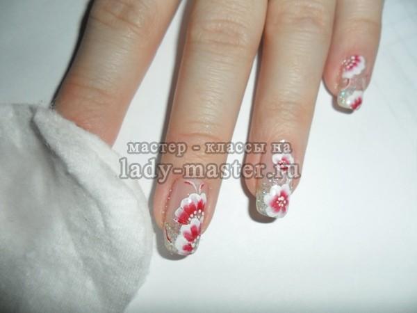 техника китайской росписи на ногтях
