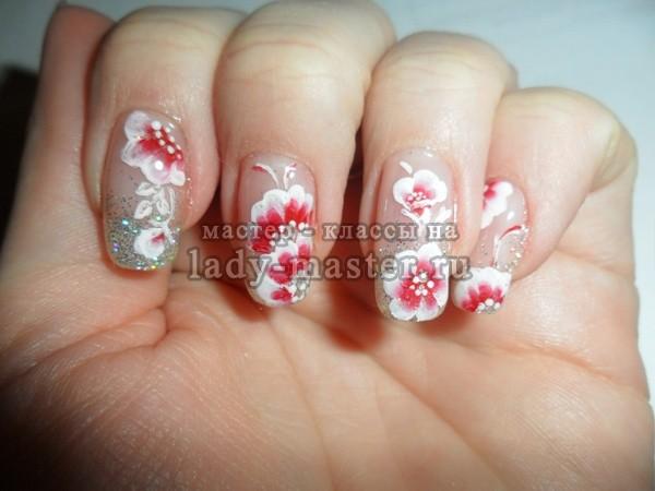 наращивание ногтей китайская роспись