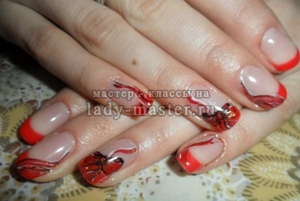 маникюр бантики на ногтях, фото