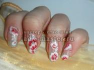 Обучение китайской росписи ногтей, простой цветочный маникюр