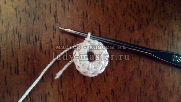 Круглая салфетка вязанная крючком фото