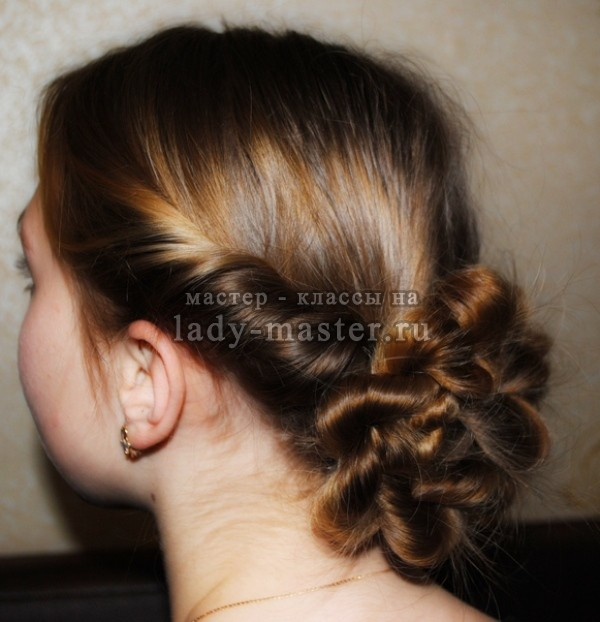 прически жгуты на длинные волосы, фото