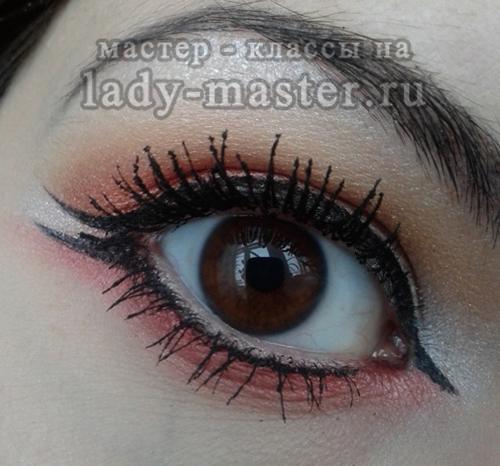 восточный макияж для карих глаз, фото