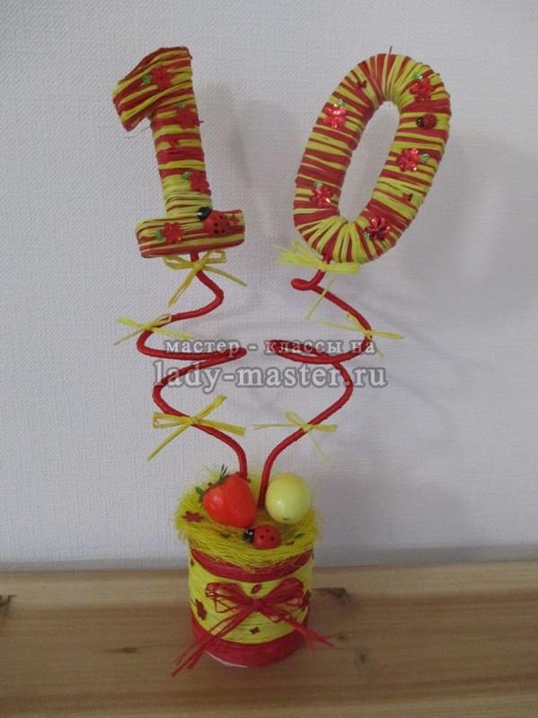 Топиарий для девочки на День Рождения своими руками, фото