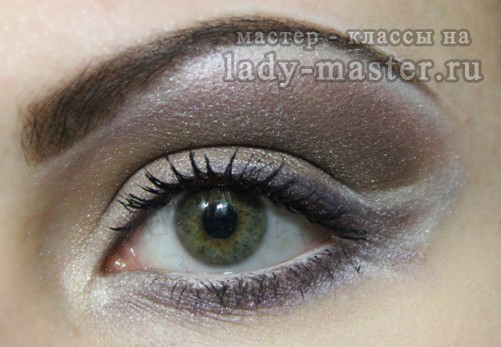 шоколадный макияж глаз, фото