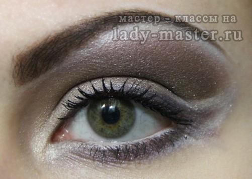 макияж для шоколадных волос, фото