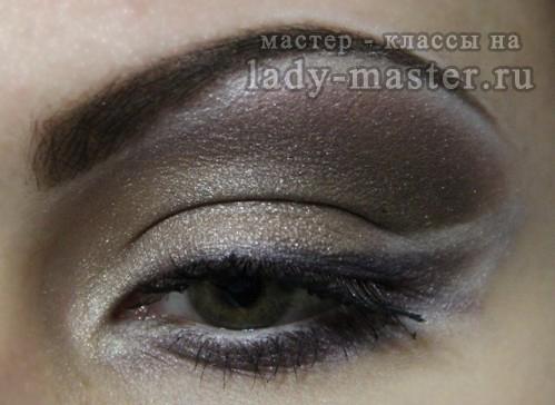 макияж в шоколадных тонах, фото