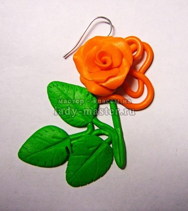 крепим розу