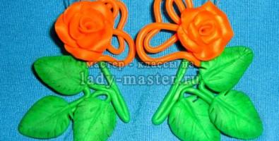 Мастер-класс по изготовлению из полимерной глины сережек-розочек