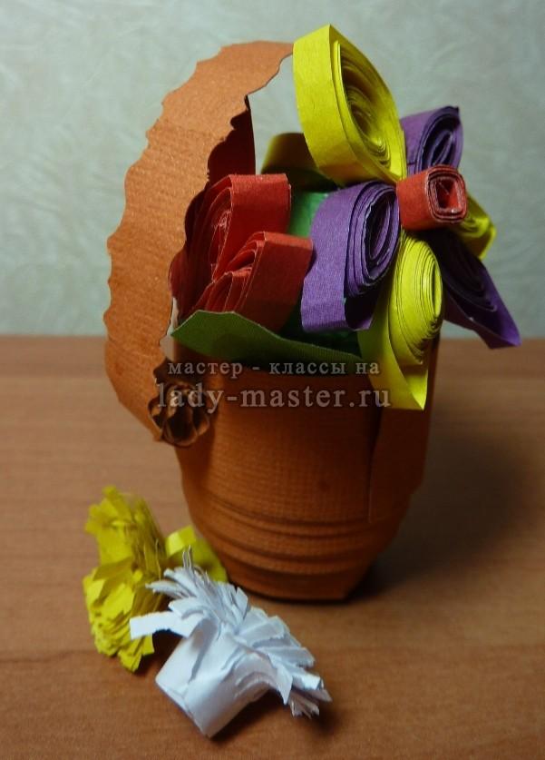 квиллинг цветок мастер класс с фото