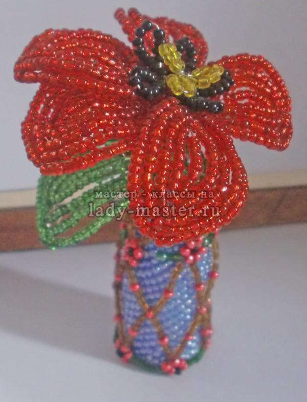 Плетение мака из бисера для начинающих, фото