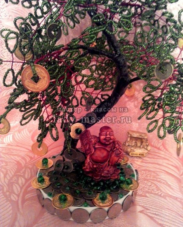Денежное дерево из бисера, фото
