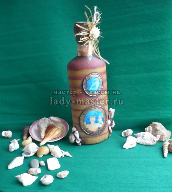 МК «Бутылка в морском стиле», фото