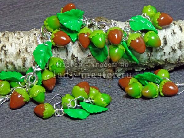 Лесные орешки (фундук) из полимерной глины, фото