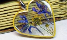 Оригинальное украшение ко Дню святого Валентина — подвеска в виде сердца