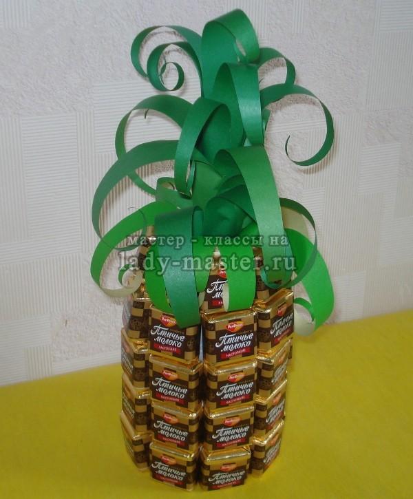Поделки ананас из конфет 53