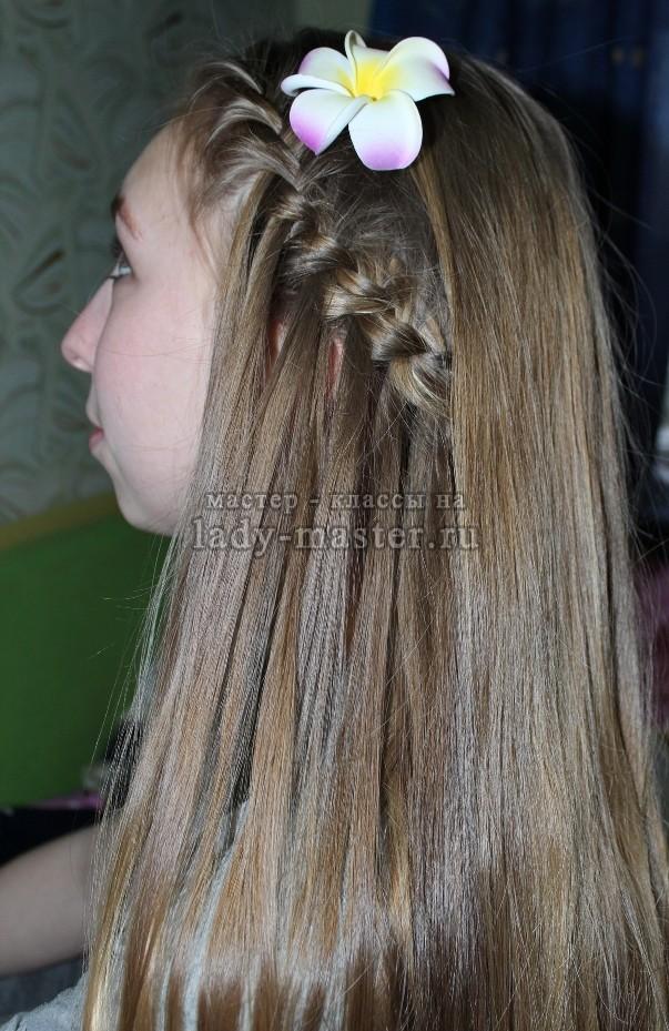 Прическа «водопад» для длинных волос, фото