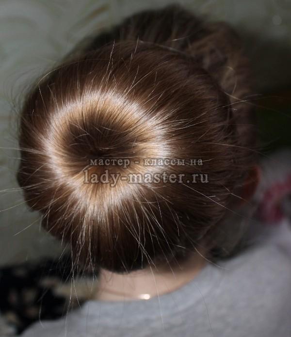 прическа пучок из волос, фото