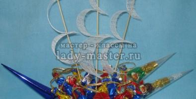 Букет из конфет «Корабль»