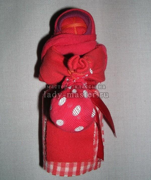 Пасхальная текстильная кукла, фото