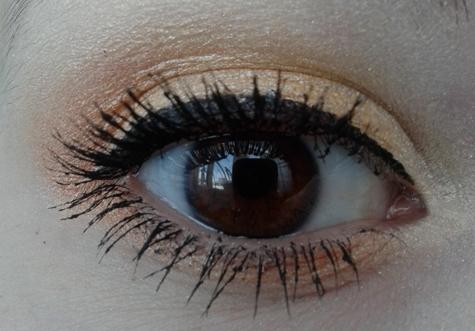 Макияж золотыми тенями для карих глаз пошагово, фото