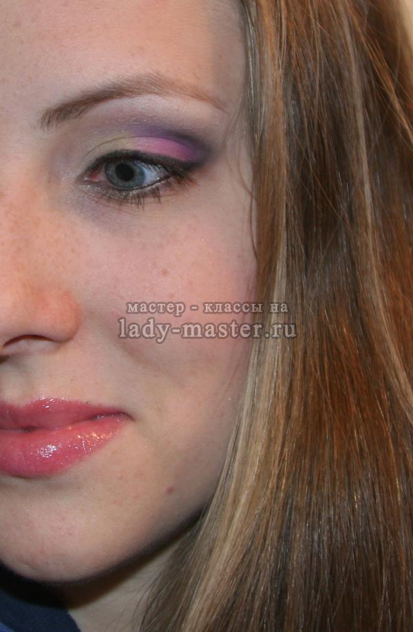 Яркий весенний макияж глаз, фото