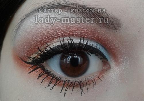 вечерний макияж для карих глаз, мастер - класс с фото