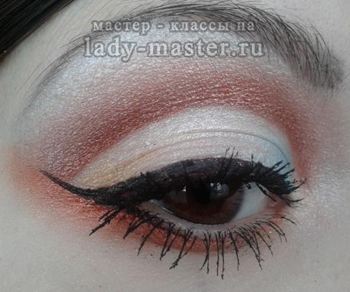 Вечерний макияж для карих глаз, фото