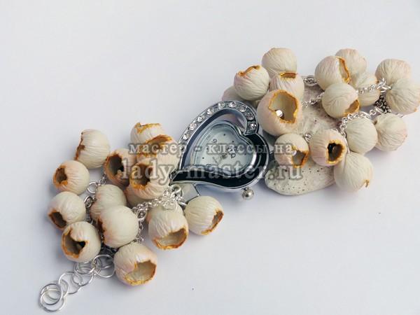 Браслет для наручных часов из полимерной глины, фото