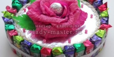 Мастер класс. Сувенирный торт из конфет